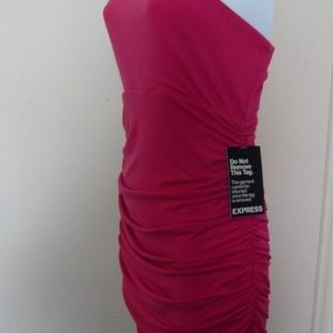 Express Dresses - 💖Express Hot Pink One Shoulder Bodycon Dress